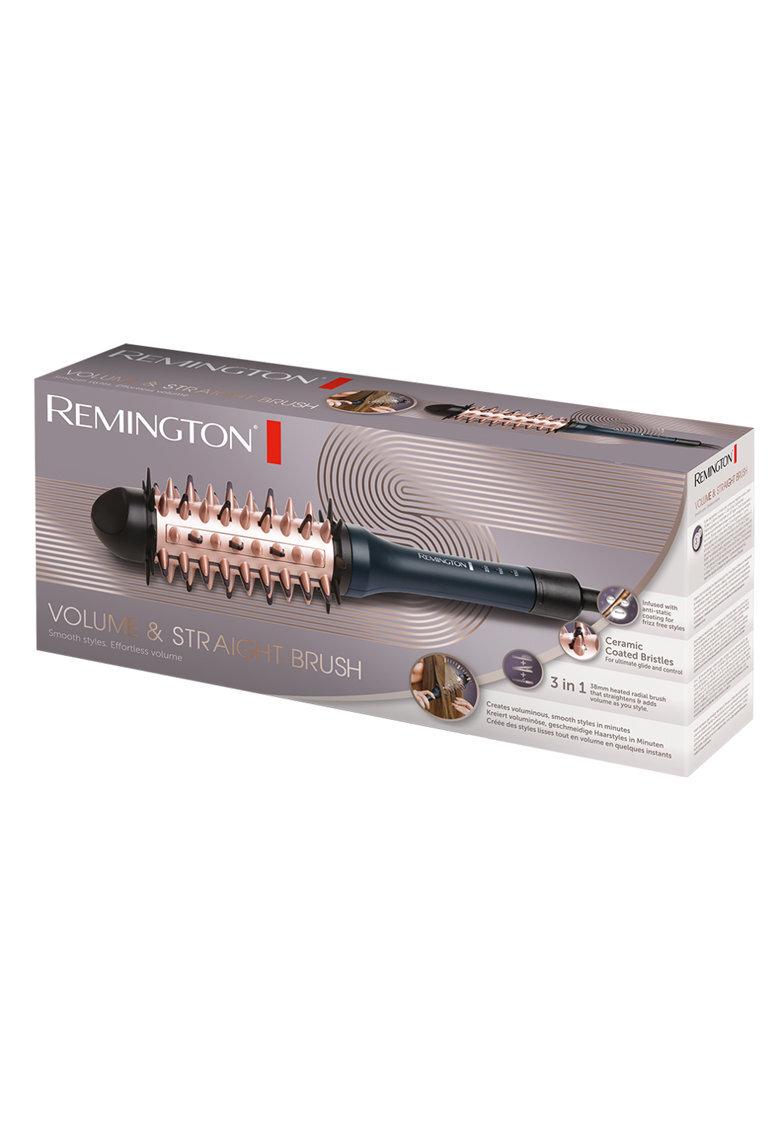 Електрическа четка за коса Remington Volume & Straight CB7A138, Керамично покритие, 150-230°C, Черна