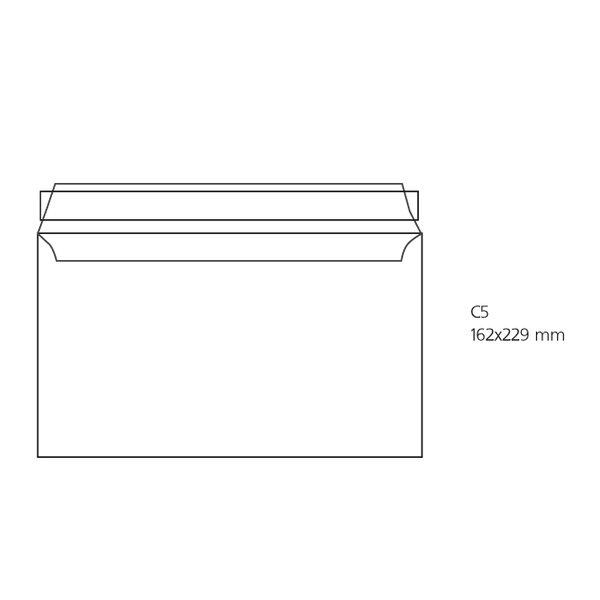 Комплект пликове OFISITEBG бял C5 162x229 оп.500