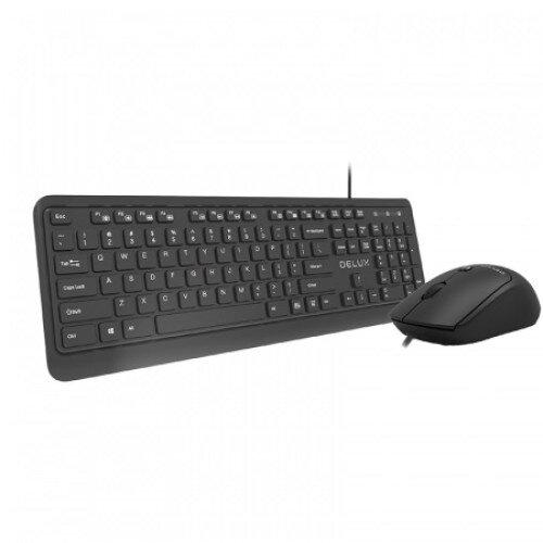 Комплект USB Клавиатура (K190U) и Мишка Delux (M320BU) БДС