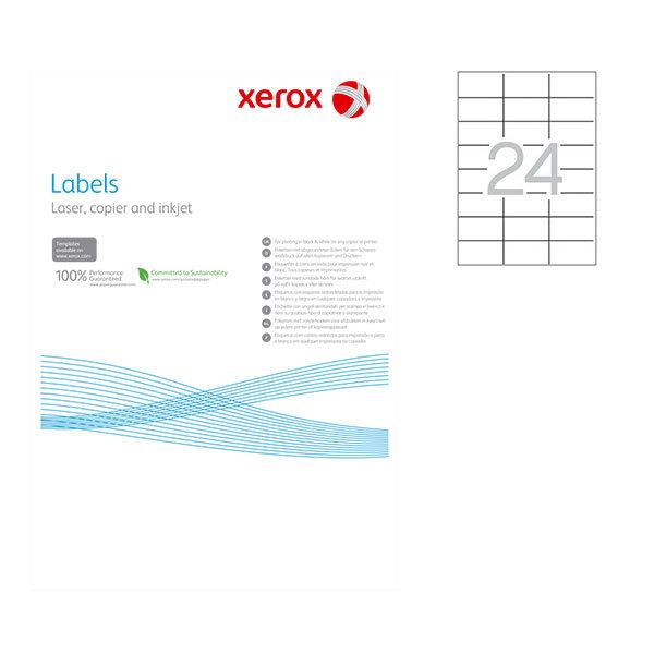 Етикети Xerox 70x37 mm А4 100 л. 24 етик.