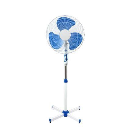 Вентилатор на стойка ESPERANSA ES 1760 B, 40W, 40 см, 3 степени на мощност, Регулиране на височината, Решетка - спици, бял/син