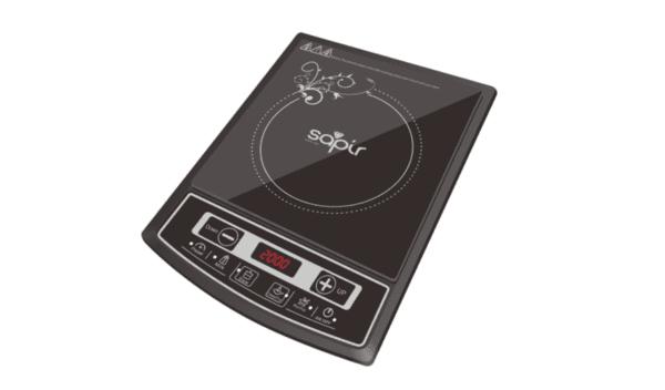 Индукционен котлон SAPIR SP 1445 LG, 2000W, LED екран, 4 функции, 8 степени