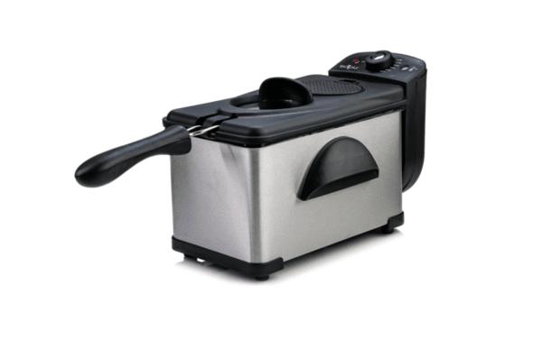 Фритюрник SAPIR SP 1980 AG, 2 л, 2000W, Демонтираща се кошница, Регулируем термостат 115°~190°C, Инокс