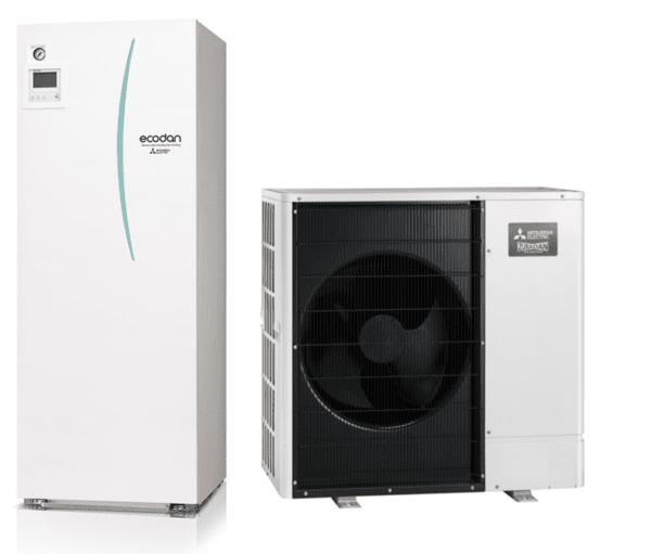 Термопомпа MITSUBISHI ELECTRIC ECODAN ZUBADAN NEW 11.2 kW 400V
