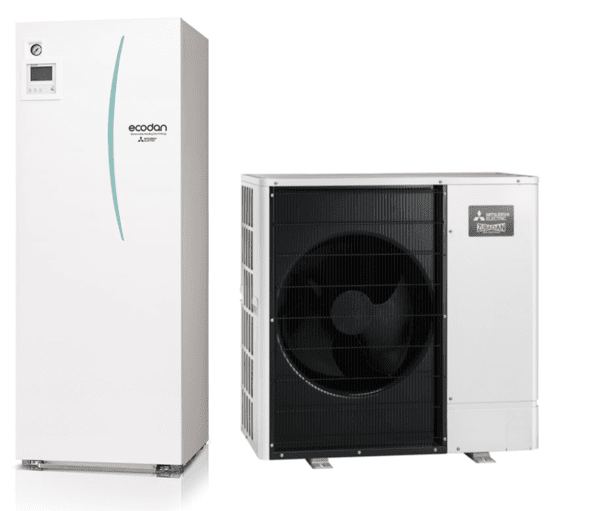 Термопомпа MITSUBISHI ELECTRIC ECODAN ZUBADAN NEW 8.0 kW 400V