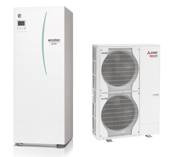Термопомпа MITSUBISHI ELECTRIC ECODAN ZUBADAN 14 kW ALL in ONE