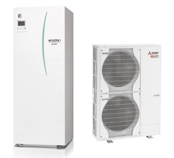 Термопомпа MITSUBISHI ELECTRIC ECODAN ZUBADAN 14 kW ALL in ONE