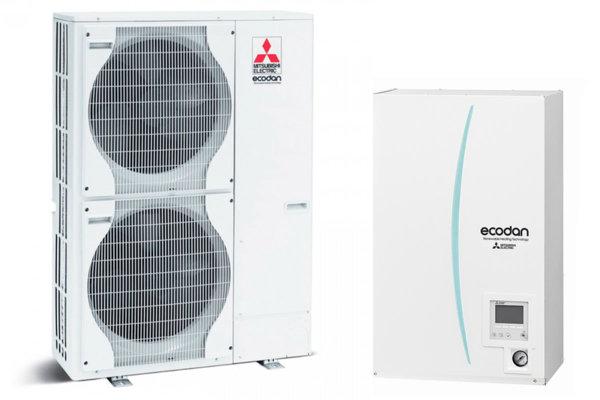 Термопомпа MITSUBISHI ELECTRIC ECODAN POWER INVERTER 25 kW 400V ERSC