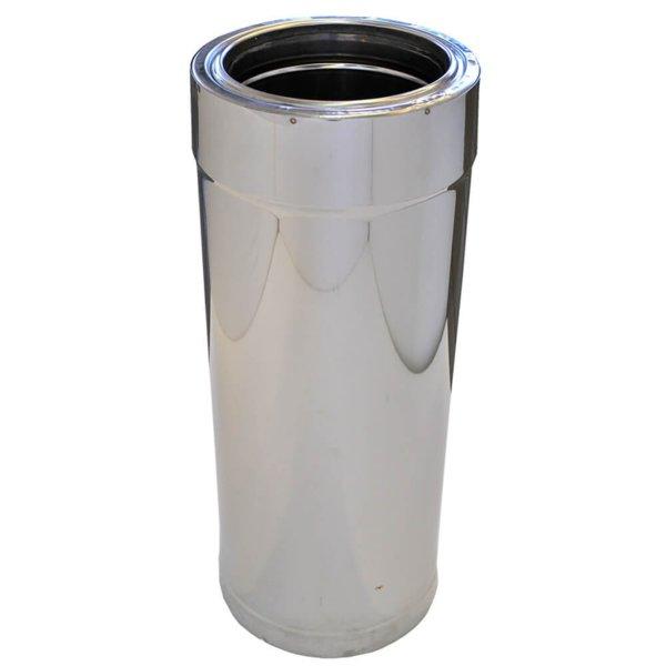 Иноксов комин изолиран прав елемент 0.5 м