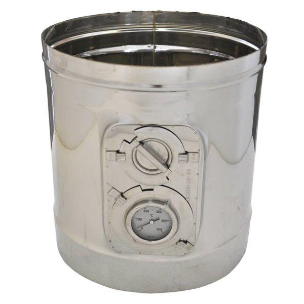 Иноксов комин ревизионен елемент с термометър