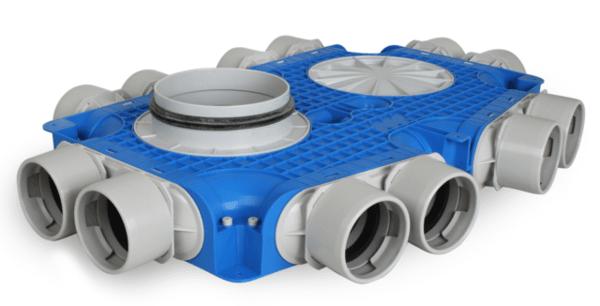 Разпределителна кутия за въздуховоди FLEX+ HV term. 12xDN75/160