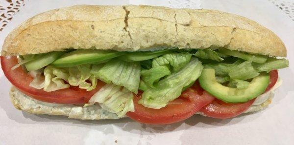 Вегетариански сандвич с авокадо