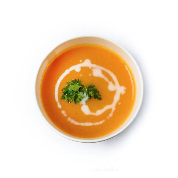 Крем супа с батат и кокосов крем