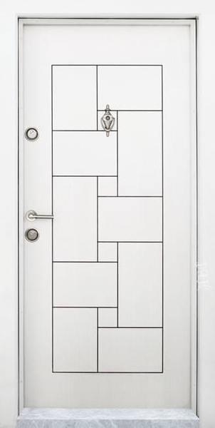 Блиндирана входна врата модел Т-100, цвят Бяла