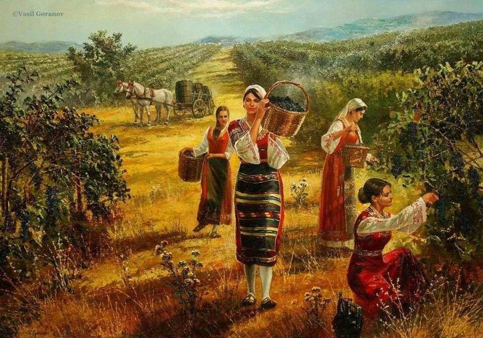 картина Гроздобер на Васил Горанов
