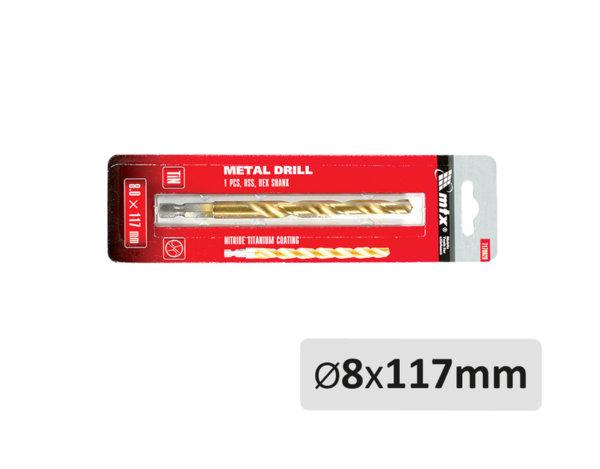 Свредло за метал - ø8 x 117 mm