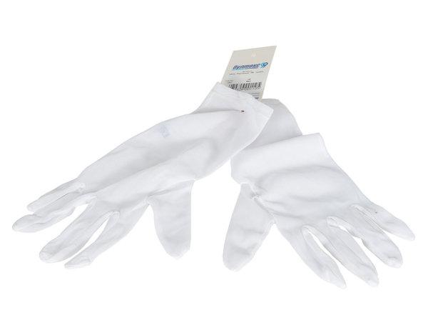 """Бели ръкавици от трико - 10"""""""