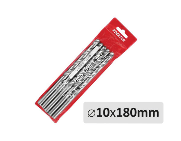 Комплект свредла - ø10 х 180 mm, 5 бр.