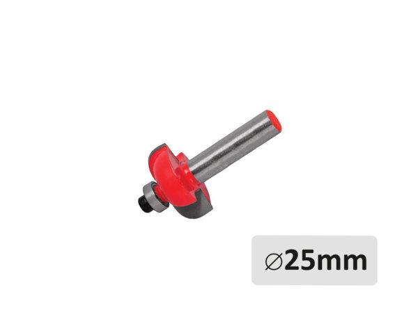Радиусов фрезер за оберфреза - с лагер, ø25 mm