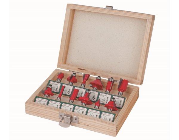 Комплект фрезери за оберфреза - 8 mm, 12 бр.