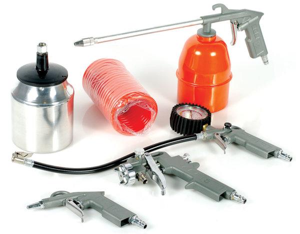 Комплект пневматични инструменти - 8 части