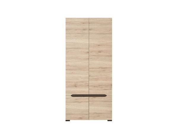 Двукрилен гардероб Elpasso - светъл дъб/венге