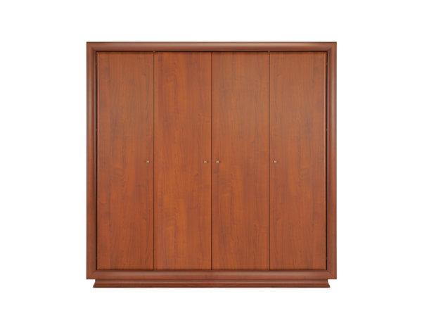Четирикрилен гардероб Largo - италианска вишна