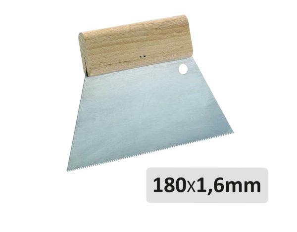 """Шпатула тип """"гребен"""" - с триъгълни зъби, 180 x 1.6 mm"""