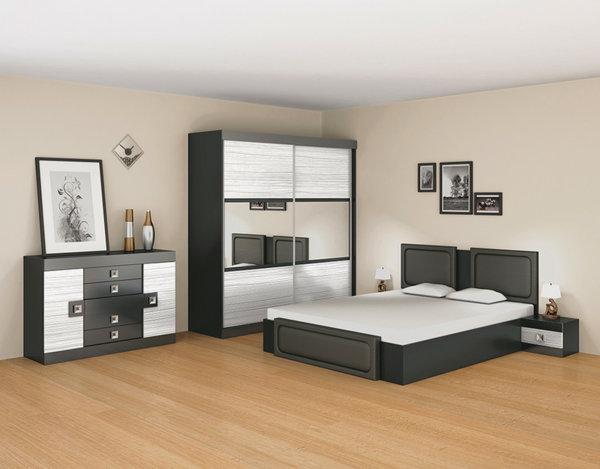 """Спалня """"Ангела"""" - бял/черен"""