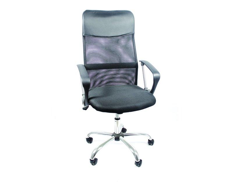 Офис стол на колелца - черен