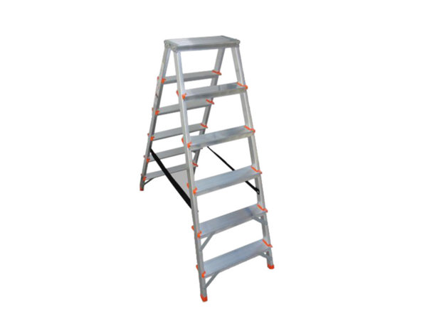 Двустранна домакинска стълба - 6 стъпала