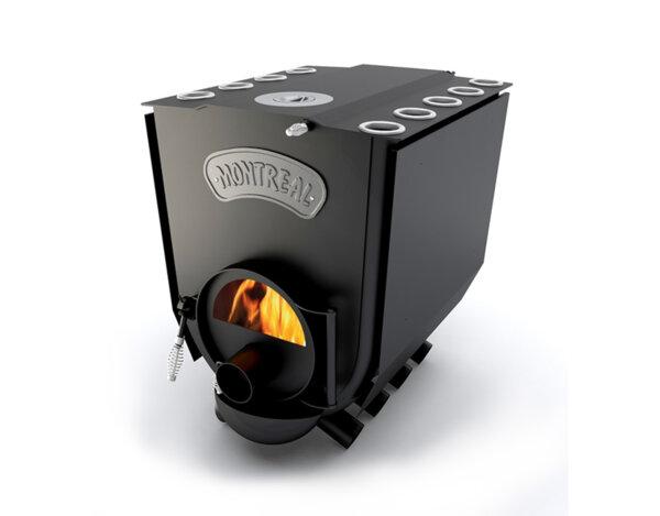 Печка на дърва Montreal Lux - с чугунен котлон и стъкло