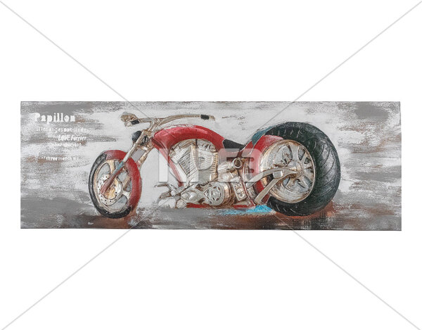 3D картина Moto Papillon - 180 x 60 cm