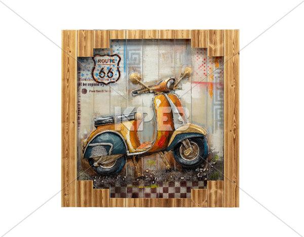 """3D картина """"Ретро скутер"""" - 100 x 100 cm"""