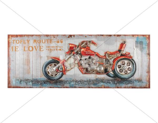"""3D картина """"Червен рокерски мотор"""" - 154 x 60 cm"""