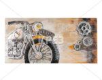"""3D картина """"Сив рокерски мотор"""" - 130 x 65 cm"""