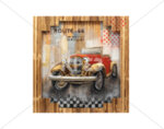 "3D картина ""Ретро автомобил"" - 100 x 100 cm"