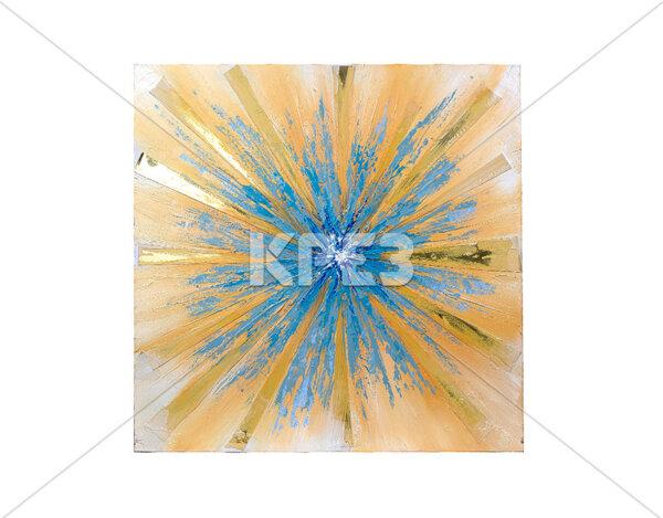 """3D картина """"Проблясъци в синьо"""" - 100 x 100 cm"""