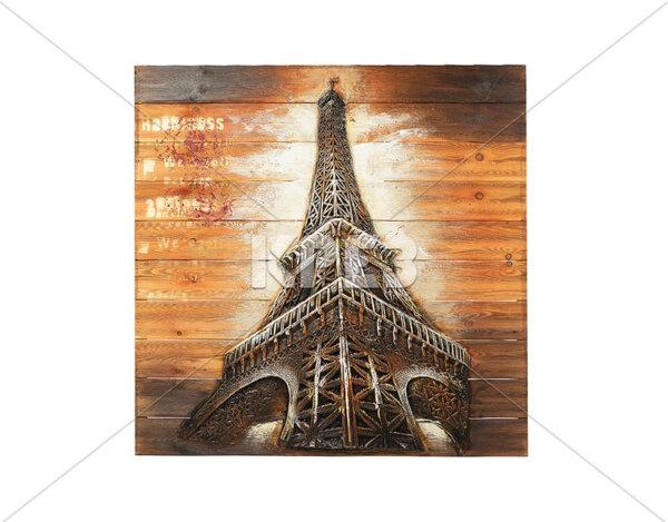 "3D картина ""Ретро Eiffel Tower"" - 91 x 91 cm"
