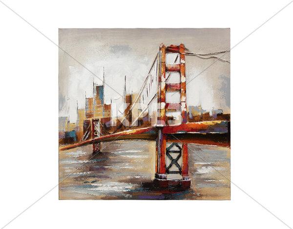 3D картина Golden Gate Bridge - 100 x 100 cm