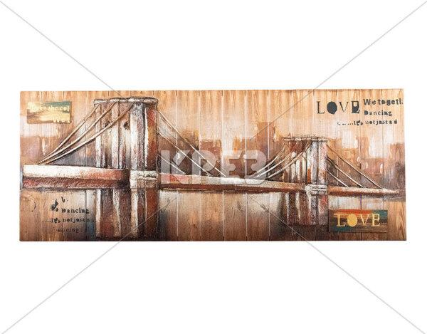 """3D картина """"Ретро Tower Bridge"""" - 154 x 60 cm"""