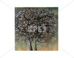 """Дървена картина """"Преходът на есента"""" - 80 х 80 cm"""