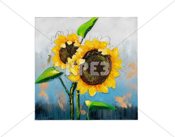 """3D картина """"Два слънчогледа"""" - 60 x 60 cm"""
