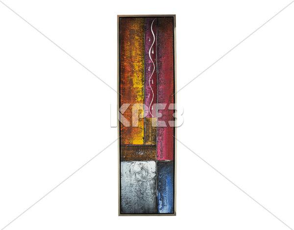 """Дървена картина """"Цветни сцени"""" - 45 x 155 cm"""