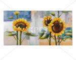 """3D картина """"Слънчогледи"""" - 120 x 60 cm"""