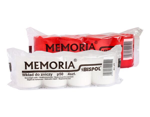 Свещи Memoria - 4 броя, различни цветове