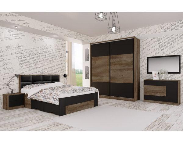 Спалня Edita - дъб барок/черен
