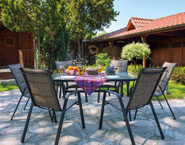 Градинска маса с шест стола