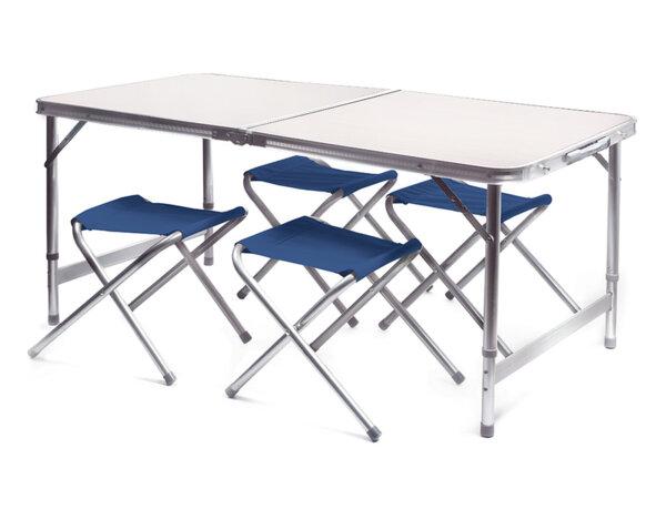 Сгъваема маса за къмпинг с четири стола