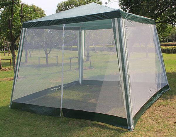 Градинска шатра с мрежа - 300 x 200 x 300 cm